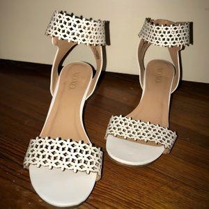 Ivory wedge heeled sandals